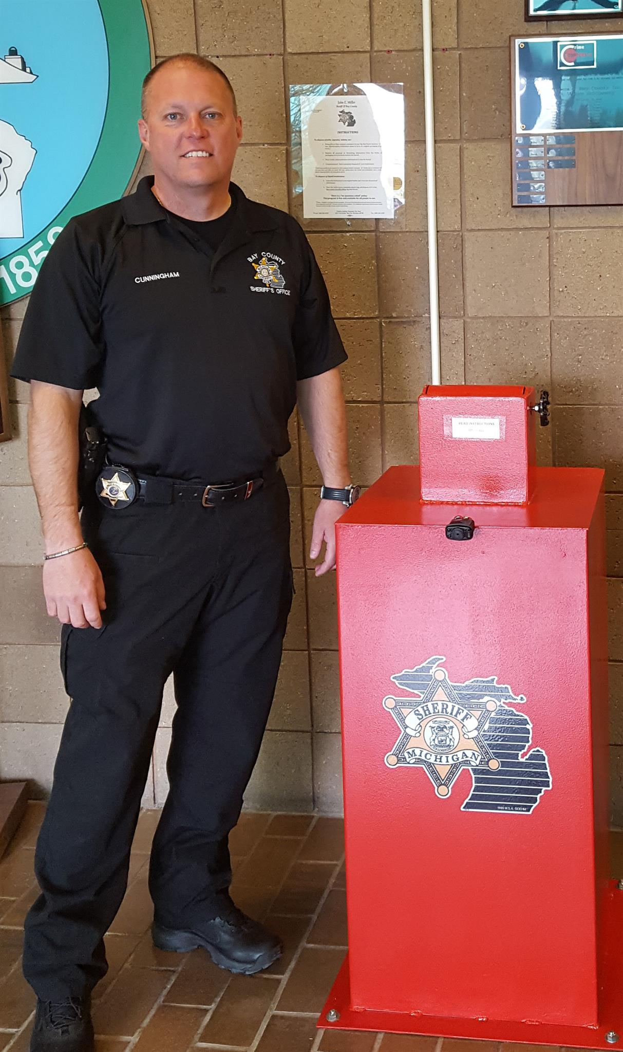Sheriff Cunningham with Drug Box